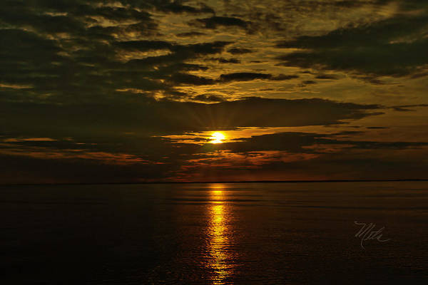 Photograph - Water Sunset Clouds by Meta Gatschenberger