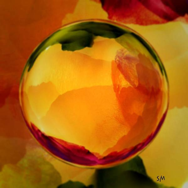 Watercolor Glass Marble  Art Print