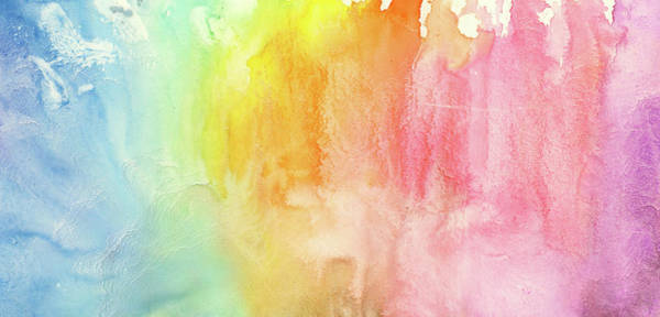 Ink Pen Photograph - Watercolor Rainbow Painting by Jusant