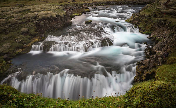 Photograph - Waterfalls-iceland. by Usha Peddamatham