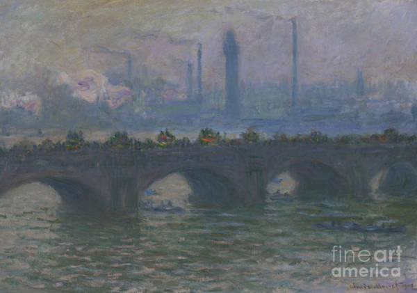 Wall Art - Painting - Waterloo Bridge, 1903  by Claude Monet