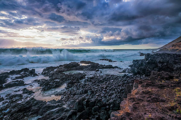 Wall Art - Photograph - Waves Pound The Shoreline by Robert Postma