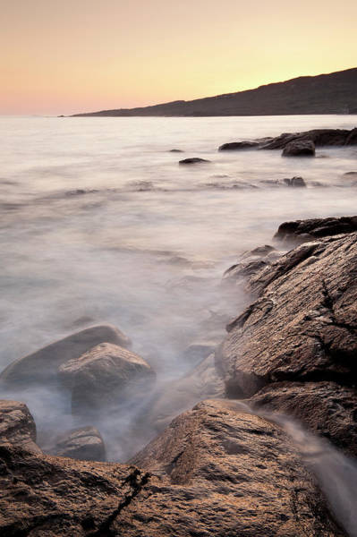 Connemara Photograph - Waves Washing Up On Rocky Beach by Cultura Exclusive/ben Pipe Photography