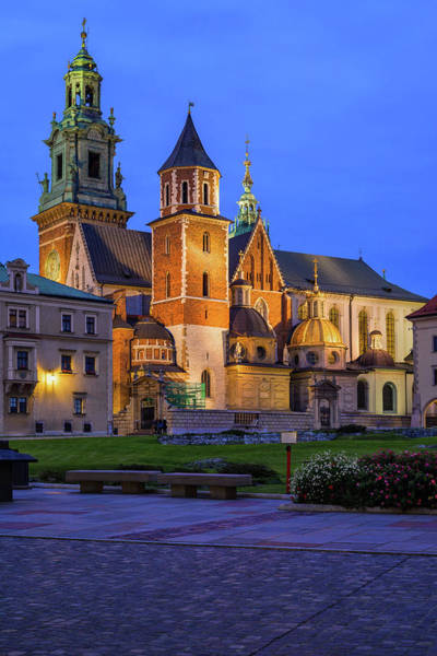 Wall Art - Photograph - Wawel Cathedral At Night In Krakow by Artur Bogacki
