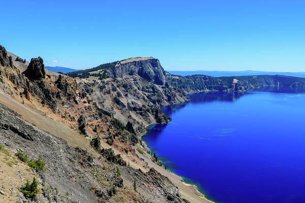 Photograph - West Rim Of Crater Lake by Dawn Richards