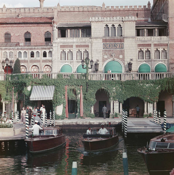 Motorboat Photograph - Westin Excelsior by Slim Aarons