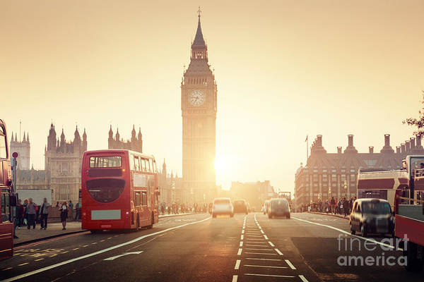 Wall Art - Photograph - Westminster Bridge At Sunset, London, Uk by Esb Professional