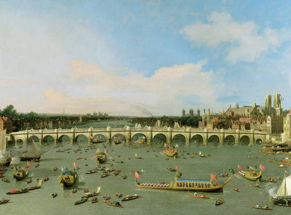 Wall Art - Painting - Westminster Bridge by Canaletto