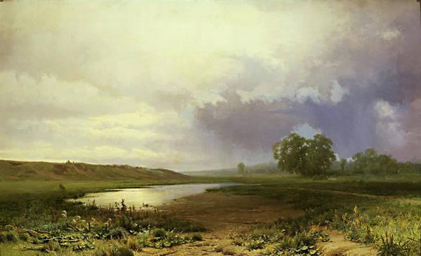 Tretyakov Gallery Painting - Wet Meadow  by Fedor Vasilyev