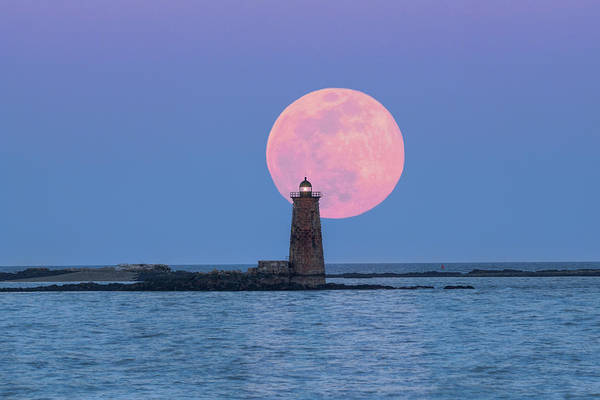 Photograph - Whaleback And The Worm Moon by Thomas Gaitley
