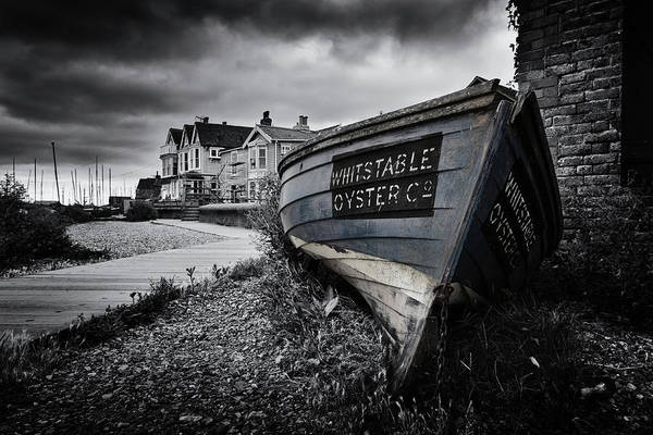Oyster Boat Photograph - Whitstable Oysters by Ian Hufton