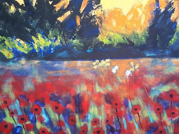 Painting - Field Of Poppies by Nikki Dalton