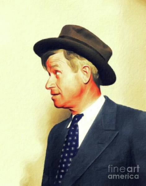 Wall Art - Painting - Will Rogers, Vintage Actor by John Springfield