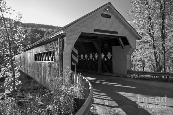 Photograph - Windham County Vermont Dummerston Covered Bridge by Adam Jewell