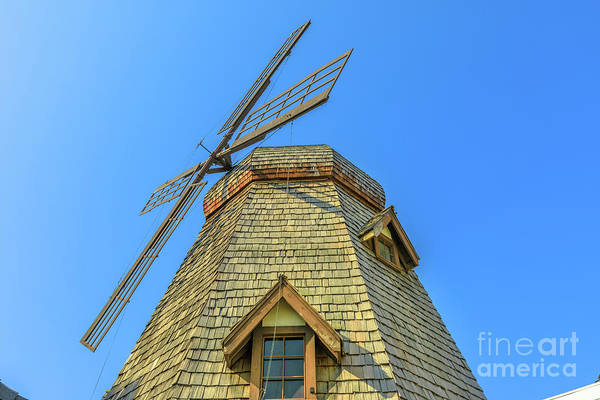 Photograph - Windmill In Blue Sky by Benny Marty