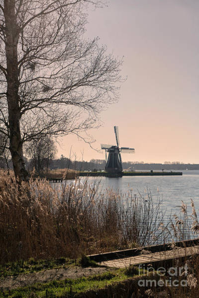 Wall Art - Photograph - Windmill On The Lake In The Netherlands by Patricia Hofmeester