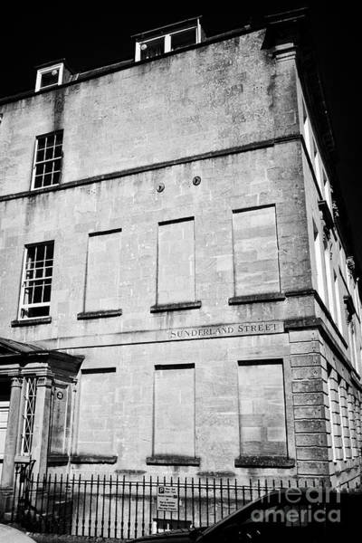 Wall Art - Photograph - Windows Blocked Due To The Window Tax On Sunderland Street The Shortest Street In Bath Between Georg by Joe Fox