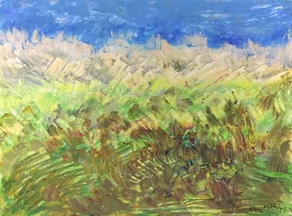 Windy Fields Art Print