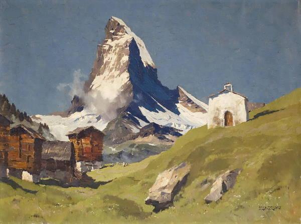 Wall Art - Painting - Winkelmatten Matterhorn by MotionAge Designs