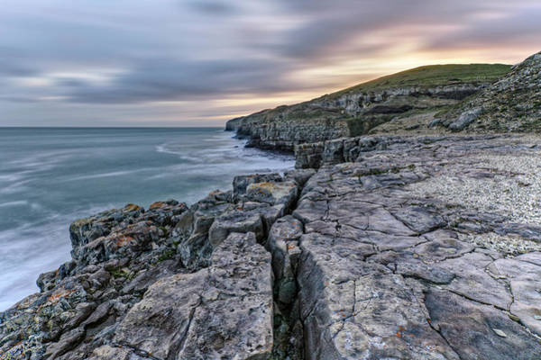 Channel Isles Photograph - Winspit Quarry - England by Joana Kruse