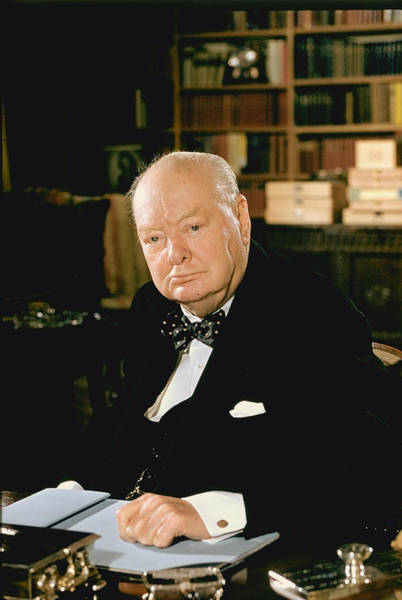 Uk Photograph - Winston Churchill by Carl Mydans