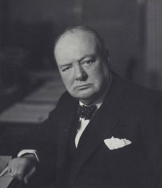 Photograph - Winston Churchill by English School