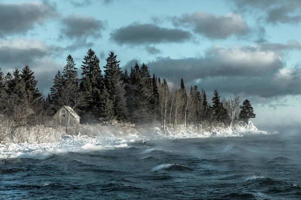 Lake Superior Photograph - Winter Blues II by Mary Amerman