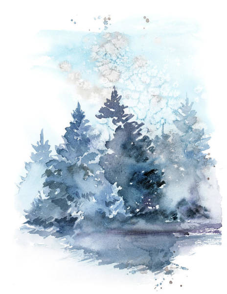 Wall Art - Painting - Winter Forest by Sophia Rodionov