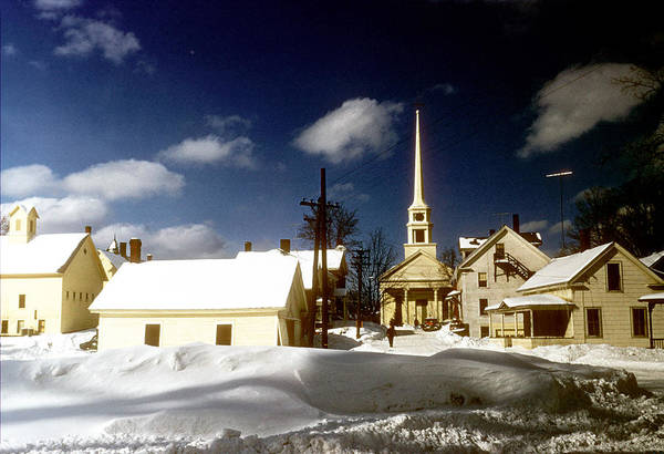 Small Town Usa Photograph - Winter In Vermont by Michael Ochs Archives