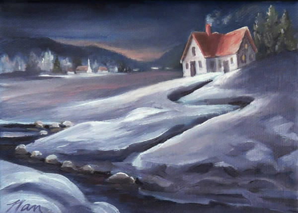 Painting - Winter In Vermont by Nancy Griswold