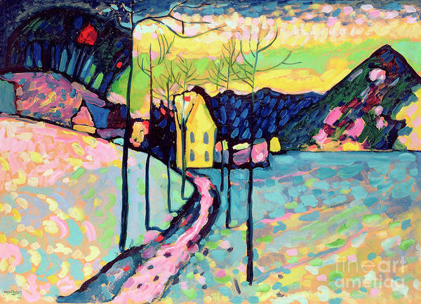 Wall Art - Painting - Winter Landscape, 1909 by Wassily Kandinsky