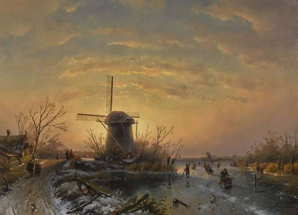 Wall Art - Painting - Winter Landscape by Charles Leickert