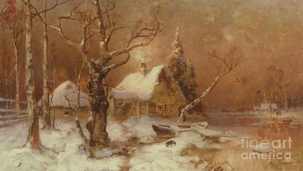 Wall Art - Painting - Winter Landscape by Julius Sergius Klever