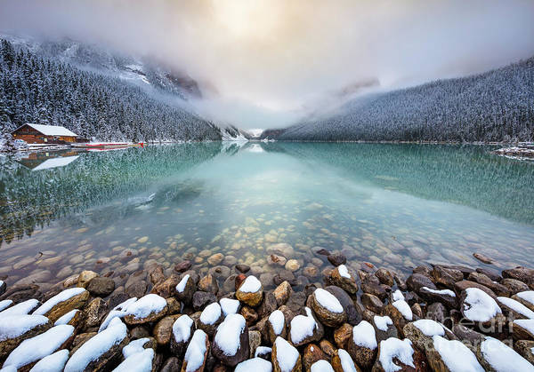Canadian Rocky Mountains Photograph - Winter Morning At Lake Louise by Inge Johnsson