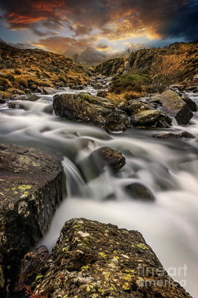Photograph - Winter Rapids Snowdonia  by Adrian Evans