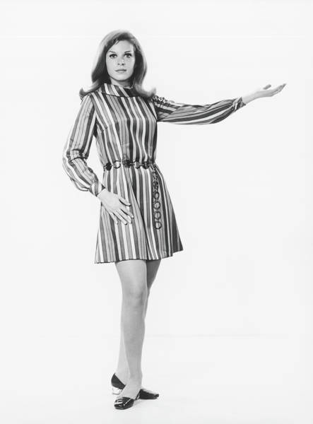 Gesturing Photograph - Woman Gesturing In Studio, B&w by George Marks