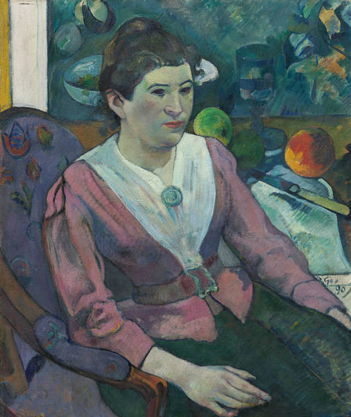 Wall Art - Painting - Woman In Front Of A Still Life By Cezanne by Paul Gauguin