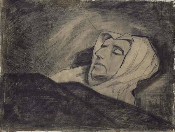 Wall Art - Painting - Woman On Her Deathbed           by Vincent van Gogh