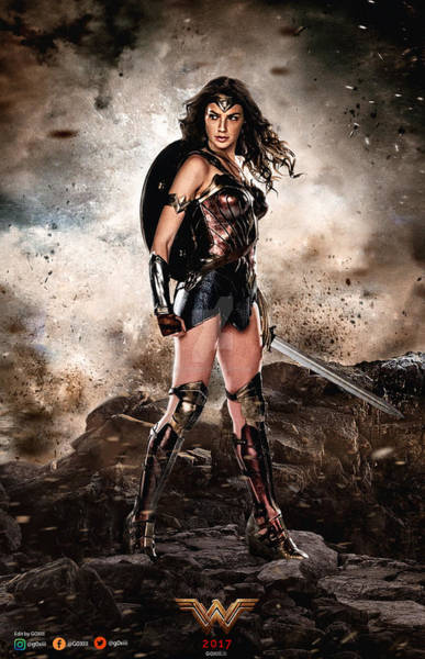 Supervillain Digital Art - Wonder Woman by Geek N Rock