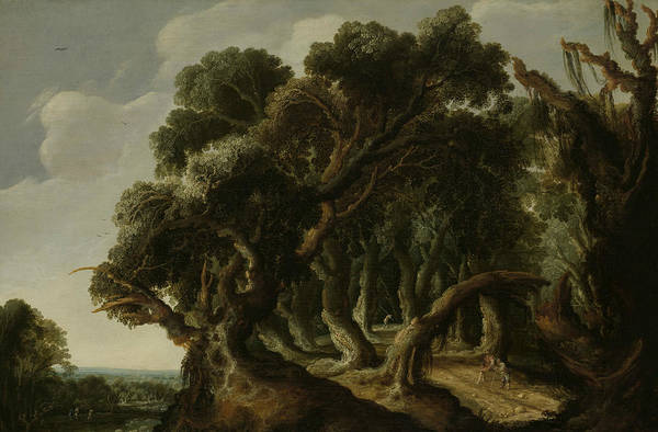 Wall Art - Painting - Wooded Landscape by Jacob van Geel