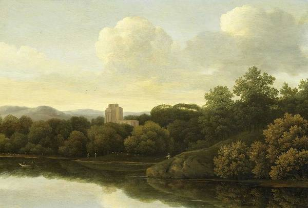 Wall Art - Painting - Wooded Landscape With River, Johan De Lagoor Attributed To, 1645 - 1680 by Johan de Lagoor