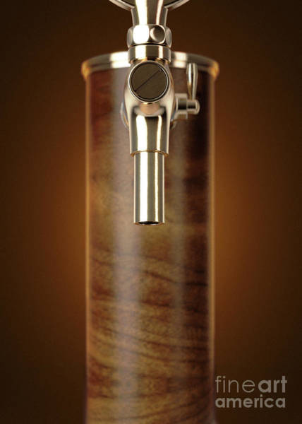 Wall Art - Digital Art - Wooden Beer Tap Isolated by Allan Swart