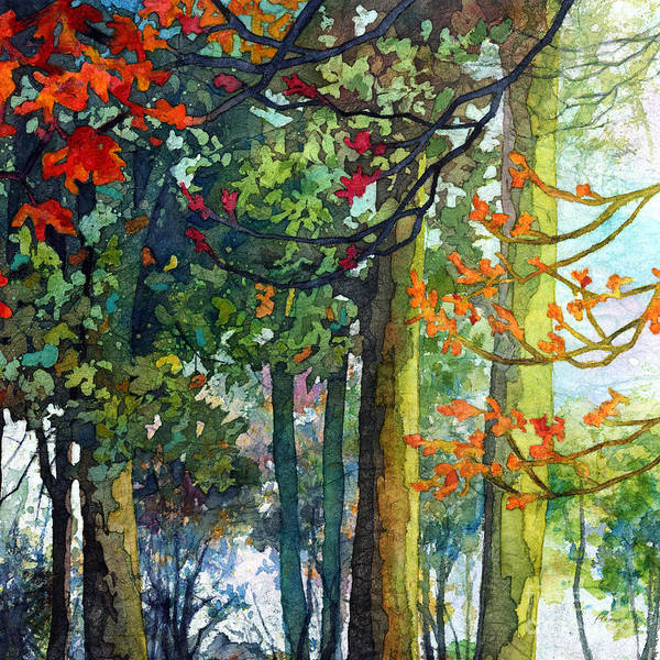 Wall Art - Painting - Woodland Trail by Hailey E Herrera