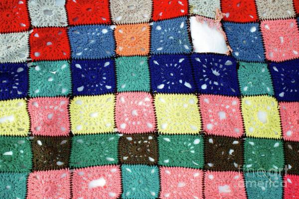 Wall Art - Photograph - Wool Patchwork Pattern by Tom Gowanlock