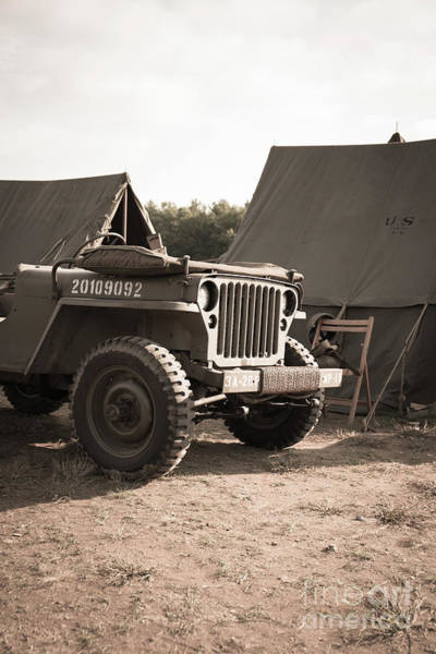Photograph - World War II Us Army Jeep by Edward Fielding
