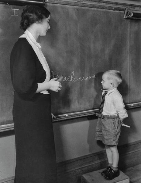 Learning Photograph - Writing On The Board by Fpg
