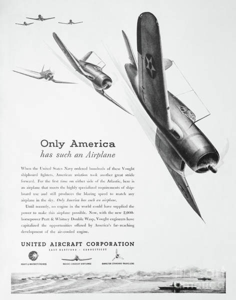 Photograph - Wwii Aircraft Advertising by Kevin McCarthy