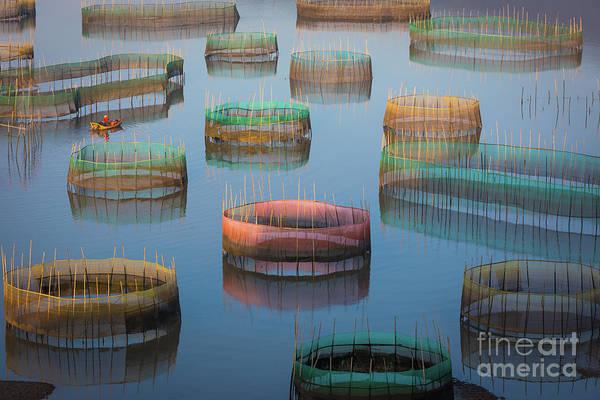 Wall Art - Photograph - Xiapu Fisherman by Inge Johnsson