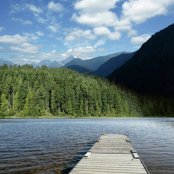 Exploration Photograph - Xxl Mountain Wilderness Lake by Sharply done