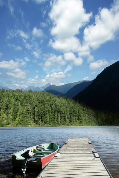Outboard Photograph - Xxxl Summer Mountain Lake by Sharply done